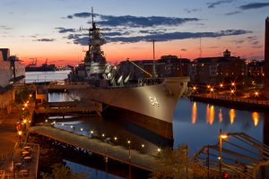 Norfolk Virginia at Sunset