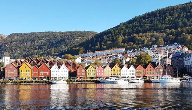 Houses on the Water in Bergen Norwat