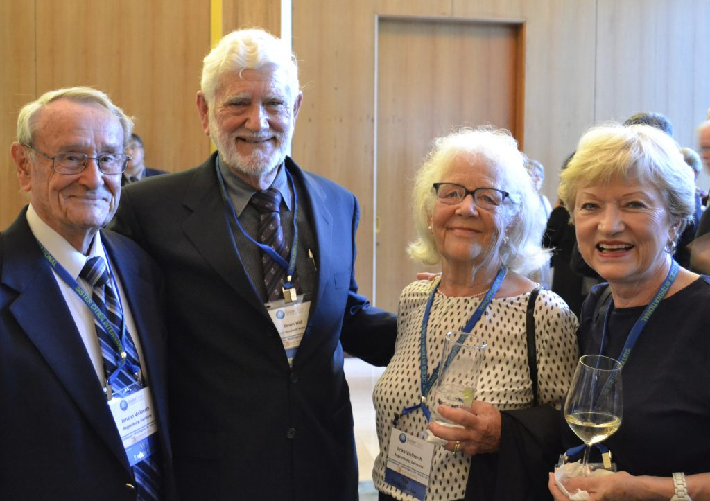 Global Leaders Circle Members Hans and Erika Veilberth with event attendees