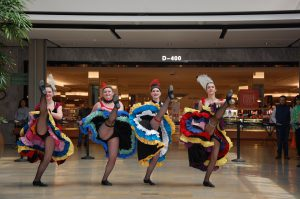 Performers dance at the Columbia mall in Maryland