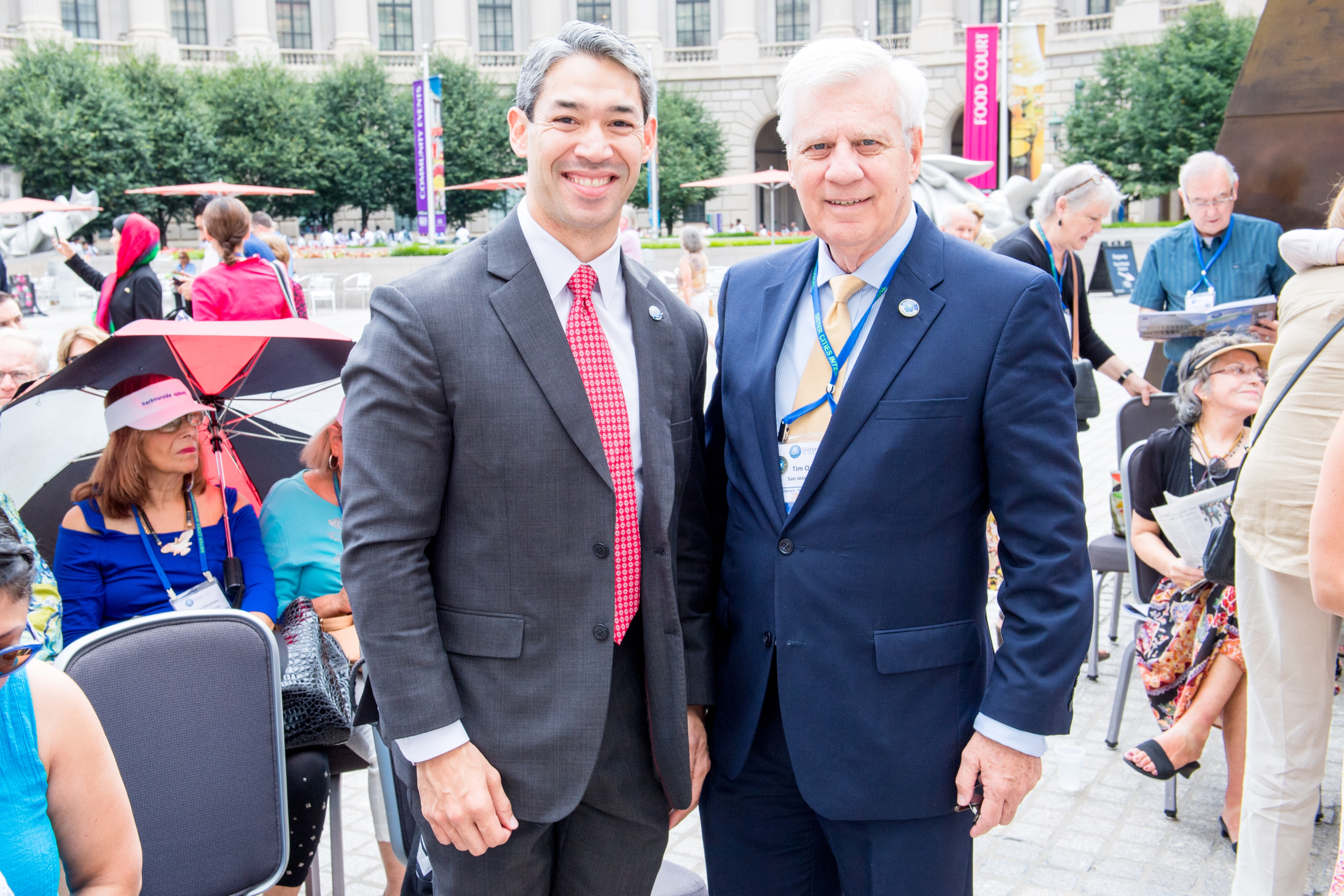 Ron Nirenberg and Tim Quigley at the 2016 Annual Conference Flag Parade