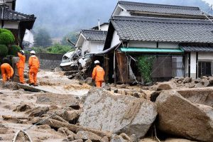 First Responders among the debris during the Japanese floods