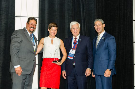 Hendersonville Sister Cities Representative Accepts Annual Award
