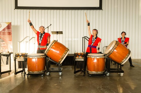 Drummers Perform at the City Welcome Reception