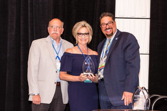 Highland Park Sister Cities Representative Accepts Annual Award