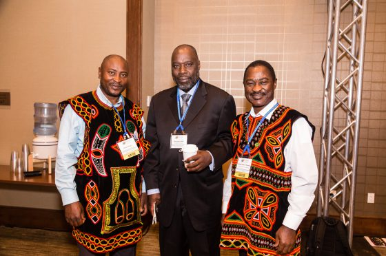 Conference Attendees in International Attire