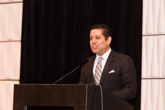 Keynote Speaker Dr. Neil Parsan Gives Remarks