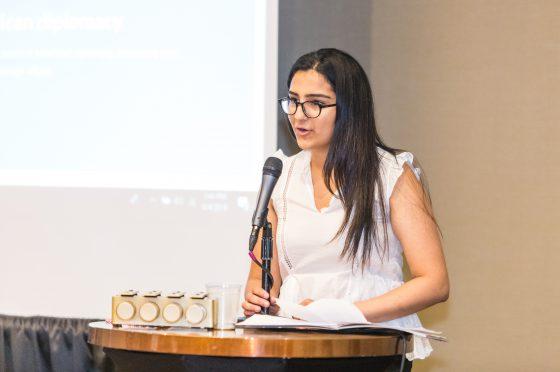 Ria Grewal Accepts Youth Leadership Award