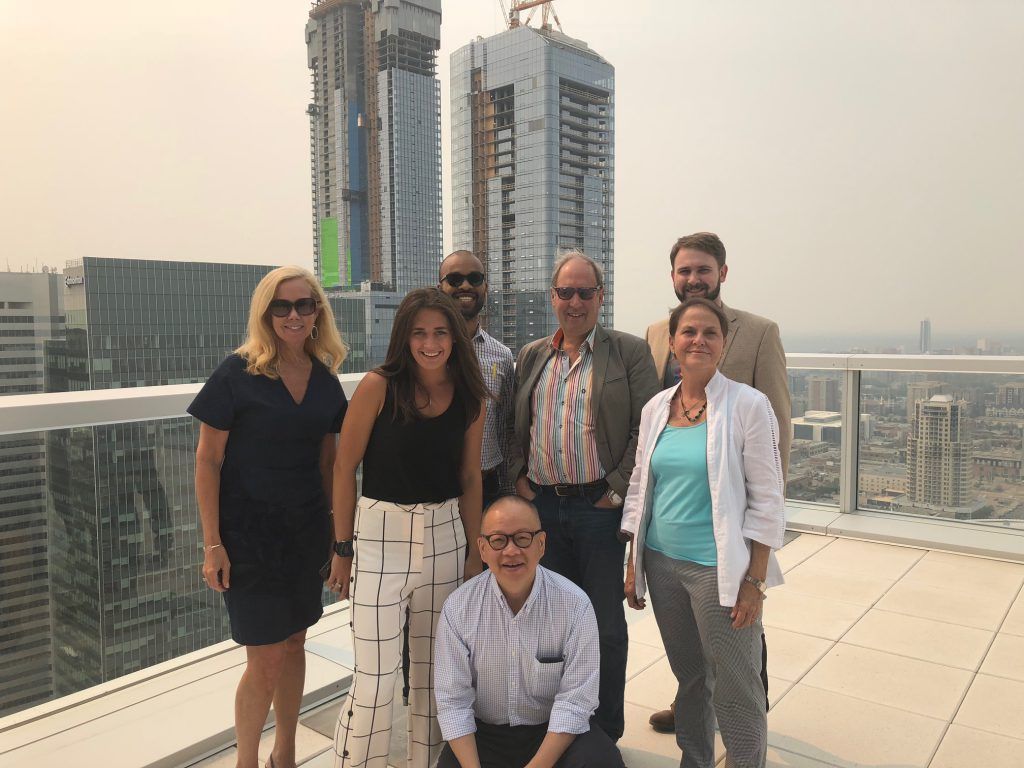 Sister Cities of Nashville representatives on top of the Edmonton Tower