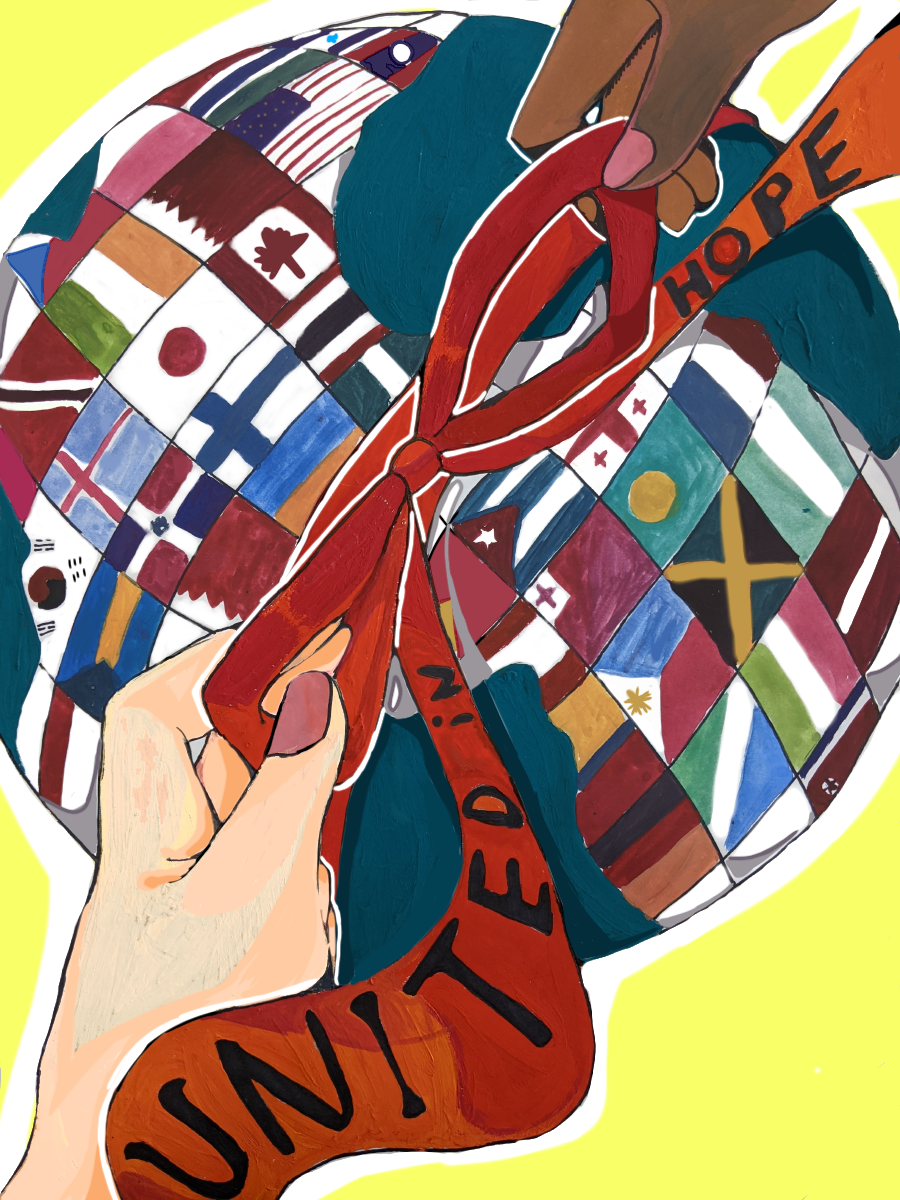 """Honorable mention: Shiori Tominaga, """"The Earth tied with an equator ribbon"""""""